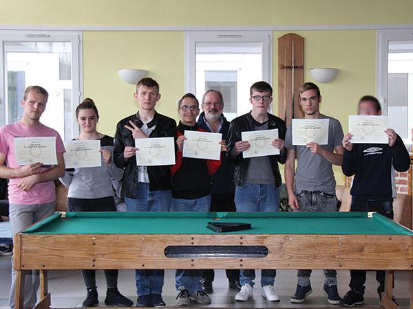 Félicitations aux 7 diplômés du CFG à l'IME Les Papillons Blancs
