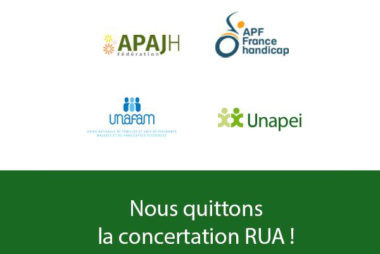 L'Unapei quitte la concertation RUA
