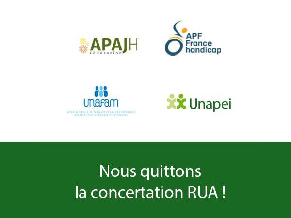 l'Unapei quitte la concertation sur le RUA