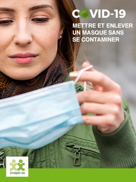 Covid-19 : comment mettre et enlever un masque sans se contaminer