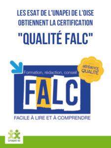 """Les ESAT de l'Unapei de l'Oise obtiennent la certification """"Qualité FALC"""""""