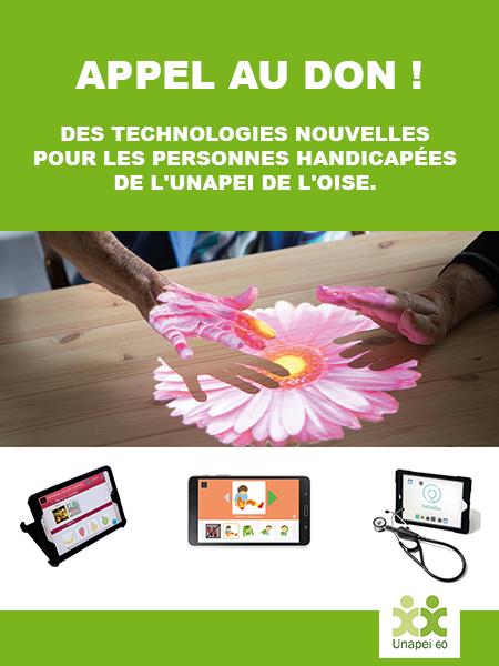 Des technologies nouvelles pour les personnes handicapées de l'Unapei de l'Oise.