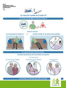 Le Vaccin contre la covid-19 disponible en version FALC
