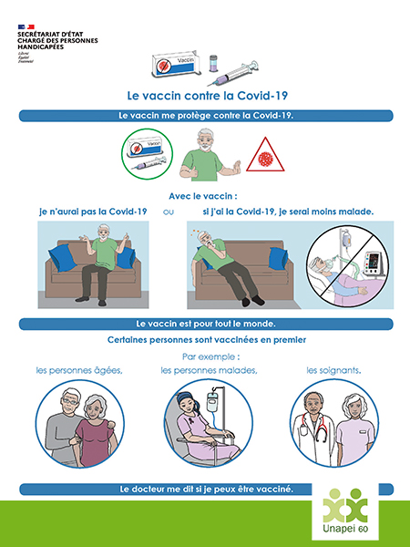 Le Vaccin contre la covid-19 disponible en version FALC