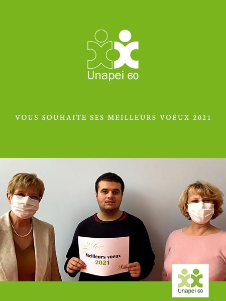 L'Unapei de l'Oise vous présente ses meilleurs vœux 2021 en vidéo !