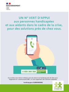 Plateforme 360 : numéro vert d'appui 0 800 360 360 aux personnes handicapées et aux aidants dans le cadre de la crise, pour des solutions près de chez vous