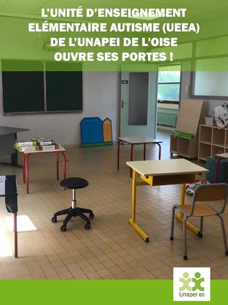 L'Unité d'Enseignement Elémentaire Autisme (UEEA) de l'Unapei de l'Oise ouvre ses portes !